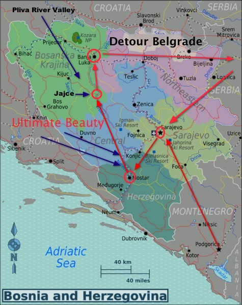 traveling belgrade, the travels in bosnia, sarajevo