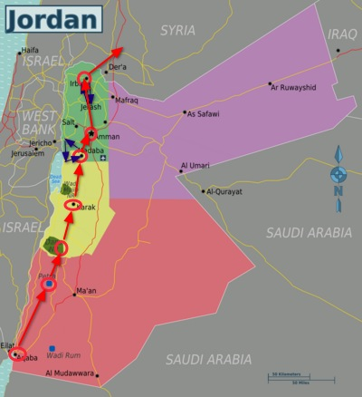 complete travel tour of jordan