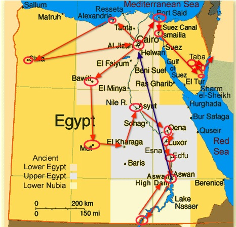 complete travel of egypt