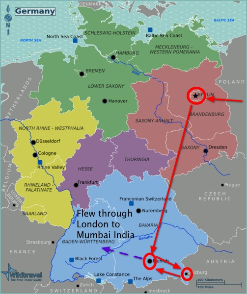 budget travel path in germany