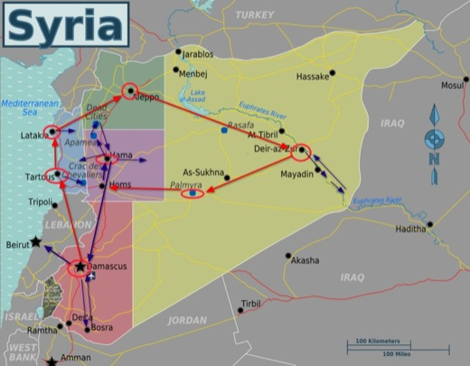 Complete Travel Tour Route of Syria
