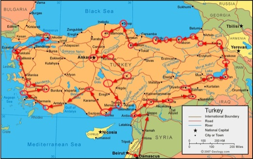 complete tour of Turkey