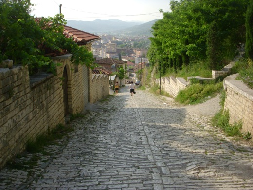 Long hill of Berat