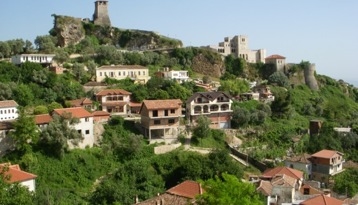 hill top castle in albania