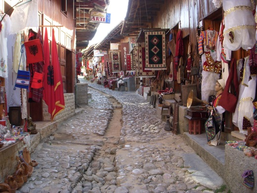 the only bazaar in Albania
