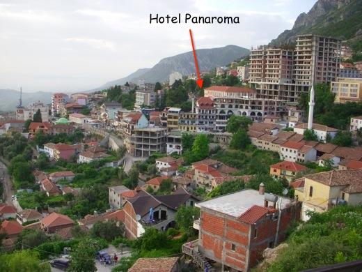 panaroma hotel, kruje, albania