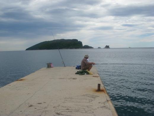 lone fisherman budva montenegro