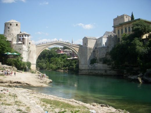 Teen girls in Mostar