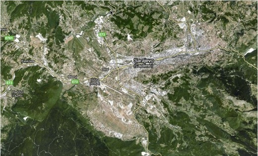 arial view of sarajevo