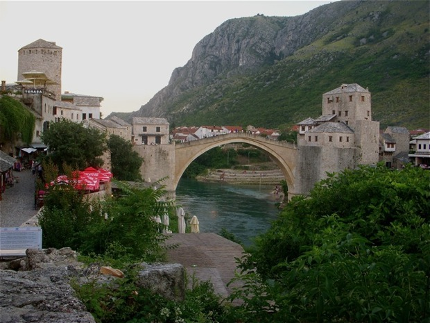 the old town of mostar, the old bridge