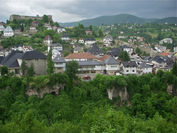 The old walled city of Jajce