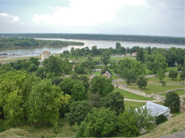 The Danube river in Belgrade