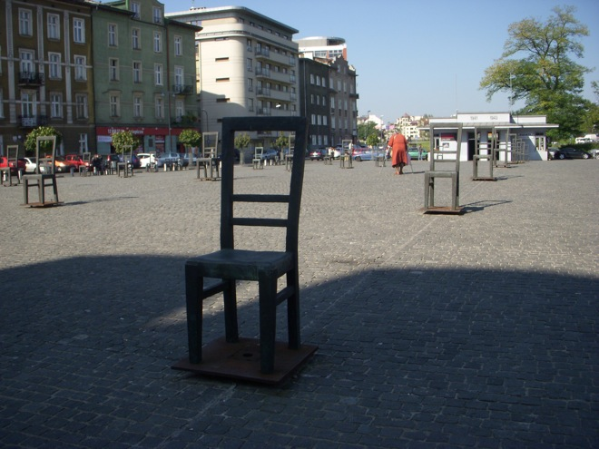 the krakow ghetto square