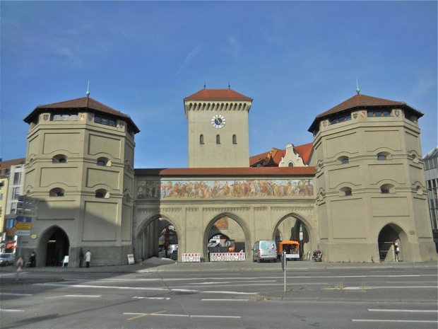 The city gate of Munich Germany
