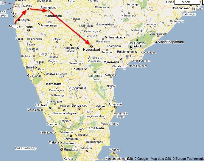 travel path in india