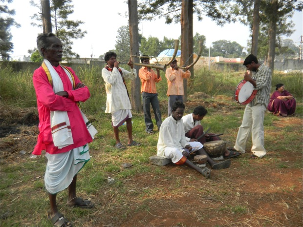 India tribal dance band