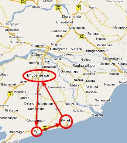 The golden triangle of Orissa