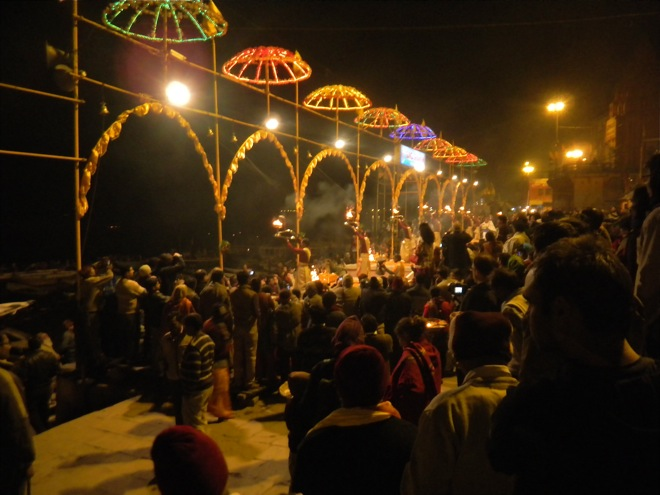 The Varanasi puja on the Ganga River