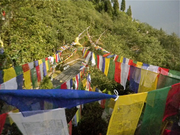 tibet prayer flags in Sikkim