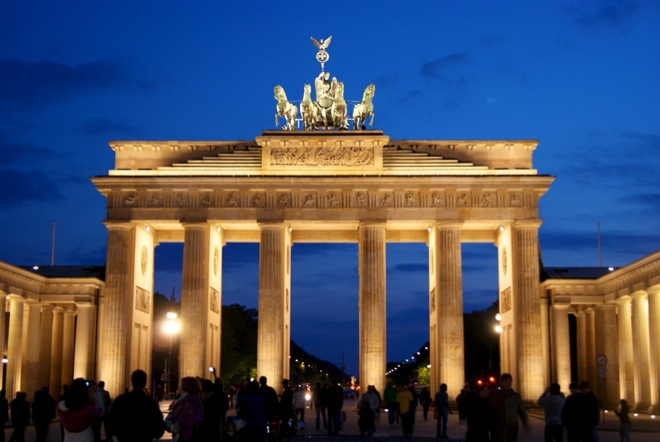 Branderburg Gate in Berlin Germany