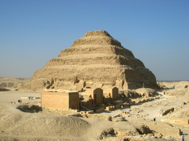 The step pyramid in egypt