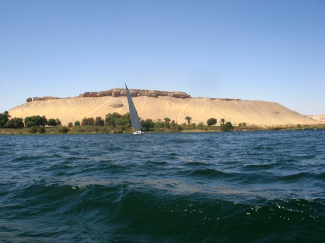 sailboating down the nile river