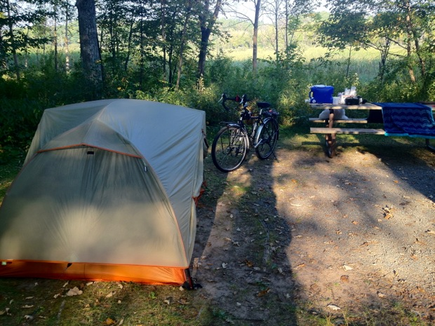 Camping in a State Park Minnesota